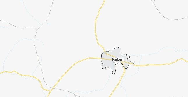Map of Afghanistan Kabul in English