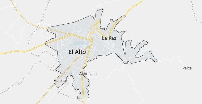 Map of Bolivia La Paz in English