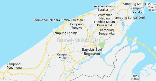 Map of Brunei Bandar Seri Begawan in English