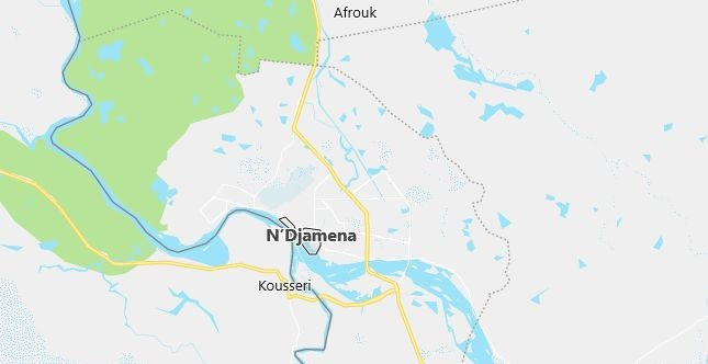 Map of Chad N'Djamena in English