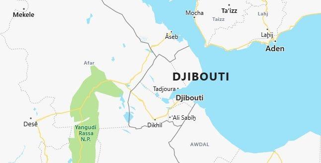 Map of Djibouti Djibouti in English