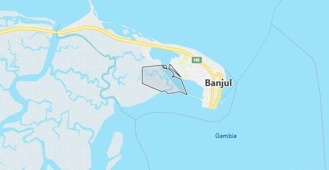 Map of Gambia Banjul in English