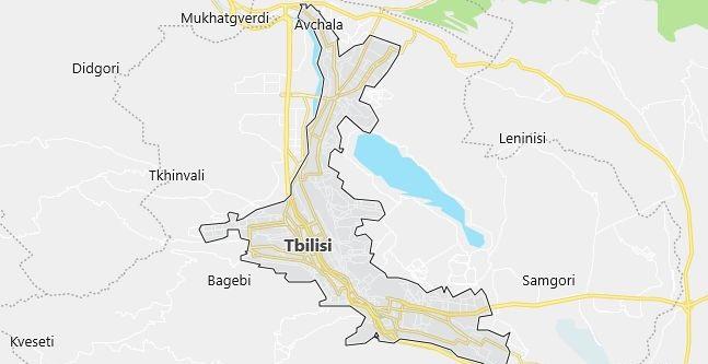 Map of Georgia Tbilisi in English