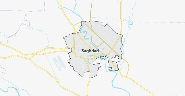 Map of Iraq Baghdad in English