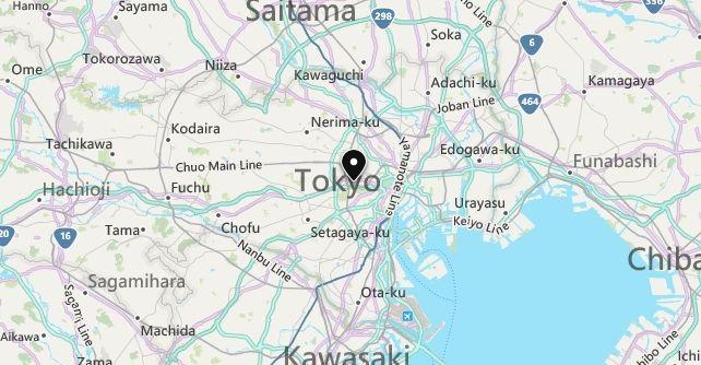 Map of Japan Tokyo in English