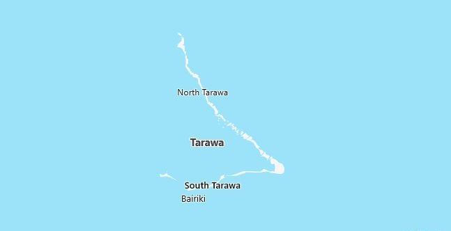 Map of Kiribati Tarawa Atoll in English