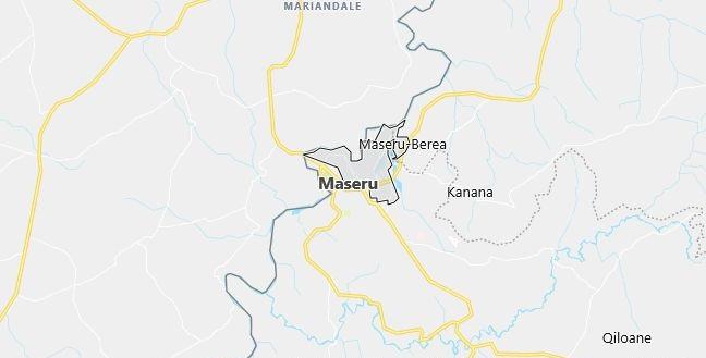 Map of Lesotho Maseru in English