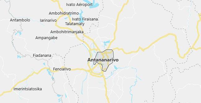 Map of Madagascar Antananarivo in English