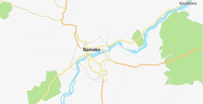 Map of Mali Bamako in English