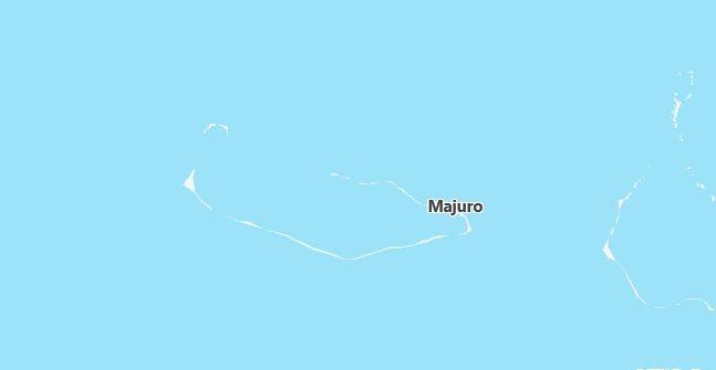 Map of Marshall Islands Majuro in English