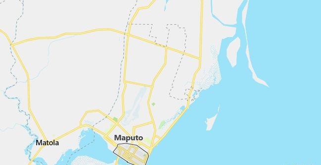 Map of Mozambique Maputo in English