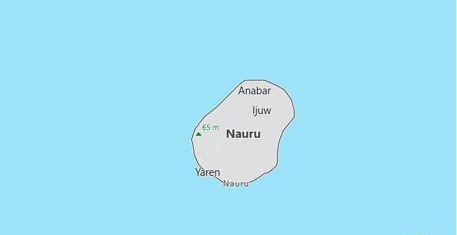 Map of Nauru in English