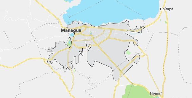 Map of Nicaragua Managua in English