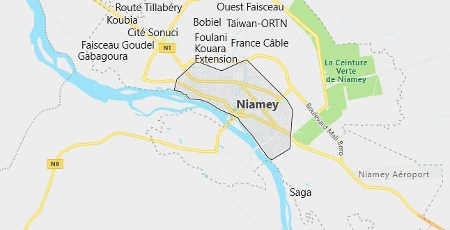 Map of Niger Niamey in English