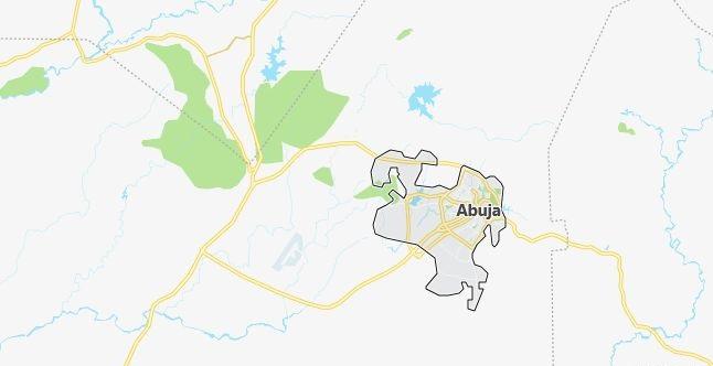Map of Nigeria Abuja in English