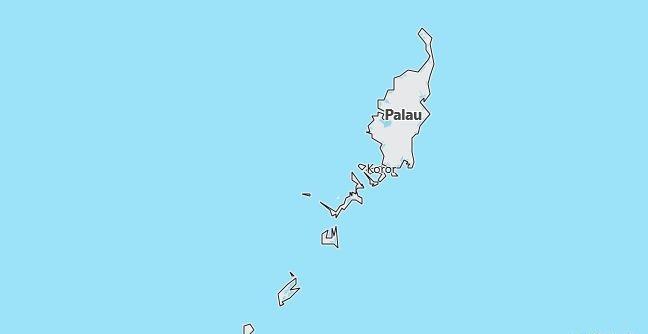Map of Palau Melekeok in English