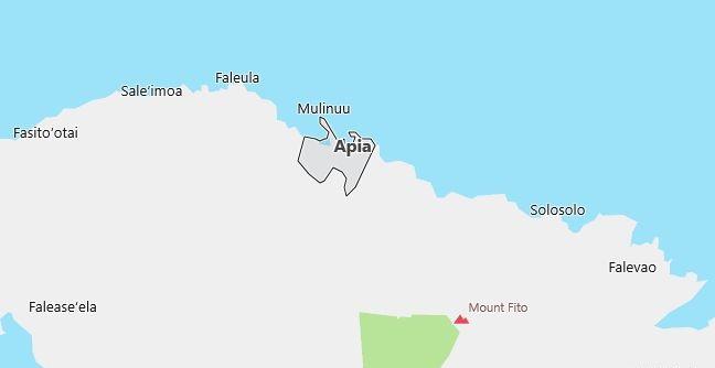 Map of Samoa Apia in English