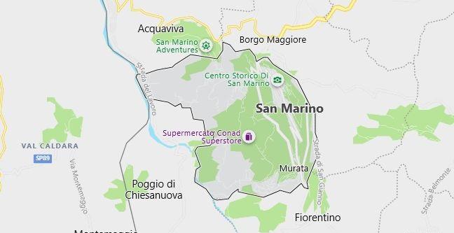 Map of San Marino in English