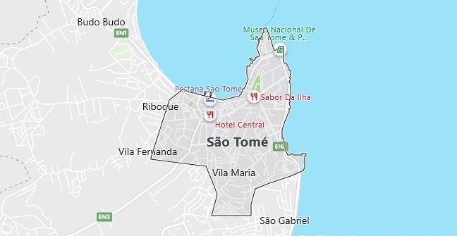 Map of Sao Tome and Principe Sao Tome in English