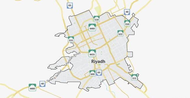 Map of Saudi Arabia Riyadh in English