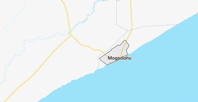 Map of Somalia Mogadishu in English