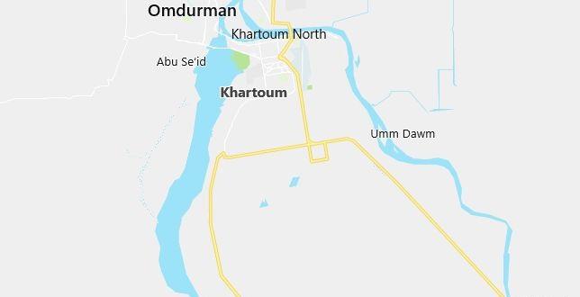 Map of Sudan Khartoum in English