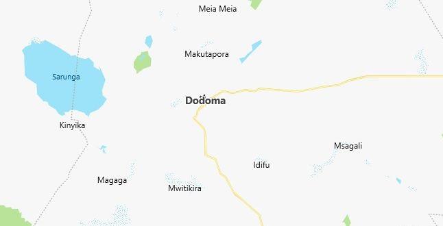 Map of Tanzania Dodoma in English