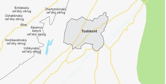Map of Uzbekistan Tashkent in English