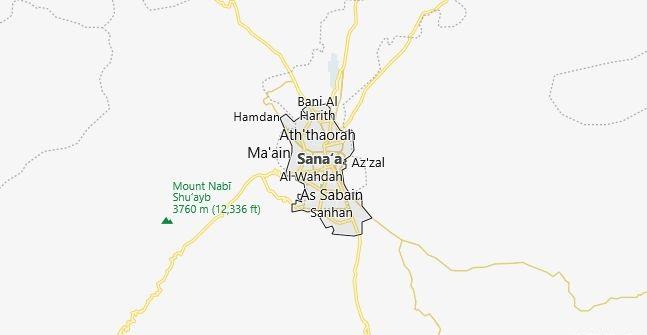 Map of Yemen Sana'a in English
